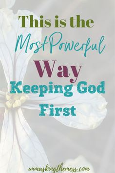 Can You Give Up Your Child For God. God wants to be in the place of #1 in our lives. Many times, I put my children in that space. Would I be willing to give up my son as Abraham did? Is God my all-in-all? Do I trust Him enough? Is God leading me or is my child?