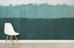 horizon green-abstract expressionist-room-wall mural-kj