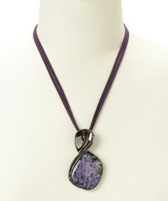Love this Purple Opal Pendant Necklace on #zulily! #zulilyfinds