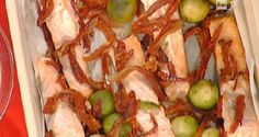 Cuochi per caso...o per forza!!: Salmone al forno con cavolini di Bruxelles croccan...