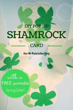 Hodge Podge / Make a pop-up shamrock DIY card for St Patricks day