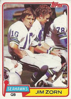 A pair of Seattle Seahawks legends.  Jim Zorn and Steve Largent