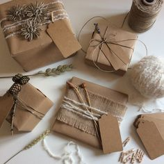 Rustic Gift wrap set £18.00 from the Blackberry Crafters Etsy shop https://www.etsy.com/uk/listing/294565577/natural-rustic-gift-wrapping-kit-with