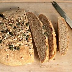 Milk and Honey: Seeded Spelt Bread Spelt Bread, Vegan Bread, Spelt Flour, Savoury Baking, Bread Baking, Bread Food, Bread Recipes, Baking Recipes, Healthy Recipes