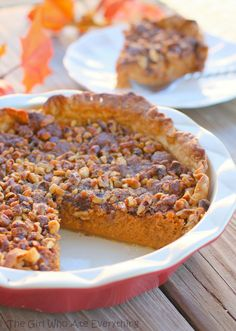 Streusel Topped Pumpkin Pie - The Girl Who Ate Everything