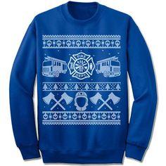 """Firefighter"" Sweater Unisex fleece crewneck sweatshirt. - Double-needle stitched neckline and armholes - Rib waistband and cuffs S M L XL XXL XXXL Across Shoulders 19.5"" 21.5"" 23.5"" 25.5"" 27.5"" 29.5"""