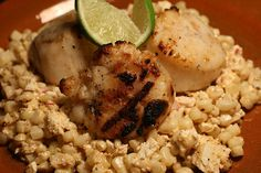 Grilled Scallops with Mexican Corn Salad by thebittenword.com, via Flickr