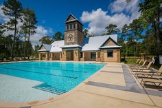 Woodtrace Rection Center- Poolside View