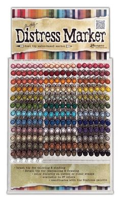 Tim Holtz Demos His New Distress Markers!