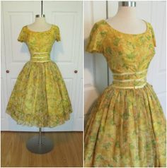 GIGI YOUNG 1950's/early 1960's Vintage Yellow by RubyFayesVintage, $165.00