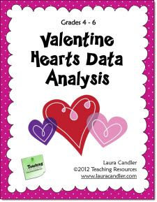 Free Valentines Hearts Data Analysis activity and other seasonal resources on Laura Candler's Seasonal File Cabinet page on Teaching Resources