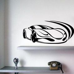 Racing Car - Ferrari - Wall Decals Stickers - J's room