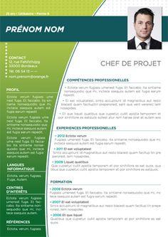 Modèle de CV Batur Vert Turquoise