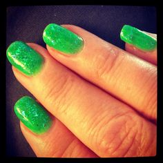 At. Patrick's Day Race Nails for the LA Marathon, March 17,2013.