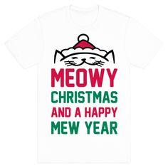 Meowy Christmas Tee