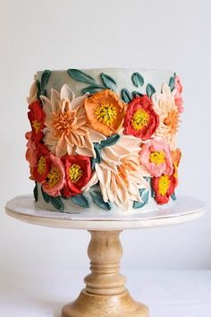 wedding cakes wedding spring 40 Wedding Cakes by 10 Bloom Ca Best Picture For wedding cakes spring rose quartz For Your Taste You are l Pretty Birthday Cakes, Pretty Cakes, Cute Cakes, Beautiful Cakes, Amazing Cakes, Bolo Cake, Gateaux Cake, Painted Cakes, Floral Cake