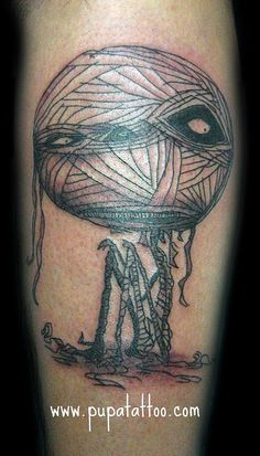 Tim Burton Mummy Boy tattoo