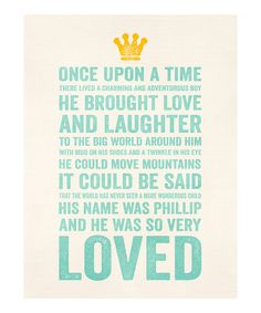 Loving this Blue 'Charming Adventurous Boy' Personalized Print on #zulily! #zulilyfinds