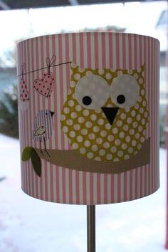 """Lampenschirme - Tisch/Steh-Lampenschirm """"rosa Eulenglück&q... - ein Designerstück von milla-louise bei DaWanda"""
