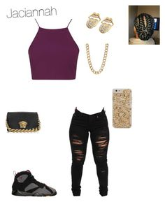 """""""For wattpad"""" by mindless-loyalty2 on Polyvore featuring Topshop, BP., Case-Mate, 14th & Union and Versace"""
