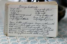 A classic vintage recipe from the files - Orange Date Cake