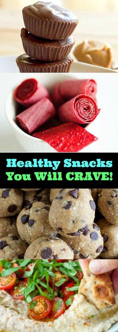 Diet Snacks Easy, Healthy Snacks You Will CRAVE! - We're all busy, but that doesn't mean you can't stay on your healthy eating plan! HEALTHY peanut butter cups and brownie bites? Here are some delicious, Easy, Healthy Snacks You Will CRAVE! Healthy Snacks For Kids, Easy Snacks, Healthy Treats, Healthy Desserts, Healthy Food App, Healthy To Go Meals, Easy Healthy Appetizers, Healthy Snack Recipes, Diet Snacks