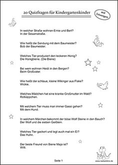 Quizfragen für Kinder im Kindergarten - Leah Baader Birthday Decorations, Art For Kids, Party Favors, Names, This Or That Questions, Party, Crowns, Quizes, Rally