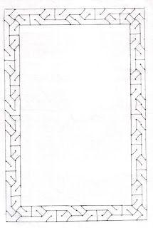 Zencerek noktalar ve düz çizgilerden oluşur.Bu çizgiler zencerek ve anahtar çizgileridir. Bordüre dik ve yatay gelecek şekilde kullanılan çizgiler anahtar çizgileridir.Bunlarda çark usulü kullanılmaz.