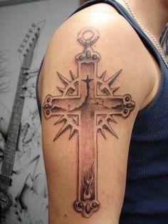 Tattoo Designs For Men  Arm Tattoo Design Popular Cross Tattoo Designs Fo