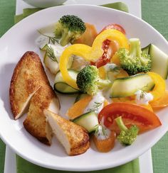 Rezept für Gemüsesalat mit Filet