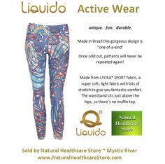 Liquido Activewear. Mystic River Patterned Hot Pants. unique. fun. durable. one-of-a-kind. limited edition prints. http://www.naturalhealthcarestore.com/