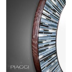 The Grey variant of our famous Roulette Round mirror. A wallhanging that's handmade to order, and one that defines what a contemporary mirror should be. ♥♥♥ http://piaggi.co.uk/store #contemporary #piaggi #design