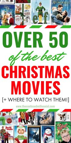 christmasmovies, holidaymovies, over 50 of the best christmas movies to watch of all times Christmas Movies Best Christmas Movies To Watch This Holiday Season, Countdown To Christmas: Movies To Watch This Holiday Season, list of hallmark christma Christmas Movies List, Christmas Movie Night, Classic Christmas Movies, 25 Days Of Christmas, Christmas Countdown, Chrismas Movies, Best Hallmark Christmas Movies, Christmas Ideas, Merry Christmas