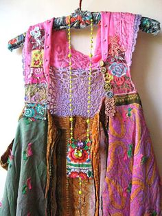≔ ♱ Boho Style ♱ ≕ bohemian gypsy hippie fashion - fab little boho dress