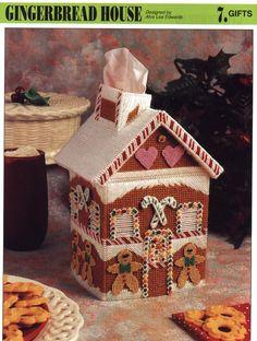 Gingerbread House Tissue Box 1/4