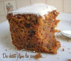 Carrot cake recipe: the best re . - Christmas carrot cake and its cream cheese frosting: For the frosting: 50 g of very soft butter (bu - Sweet Recipes, Cake Recipes, Dessert Recipes, Frosting Recipes, Cheese Recipes, Chicken Recipes, Dinner Recipes, Healthy Recipes, Molasses Cake