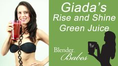 """Giada's Rise and Shine Green Juice recipe  1.5 C filtered water 1 cup spinach 2 apples, halved and cored 2 carrots, medium, scrubbed 1 celery stick juice from 1/2 a lemon 1 – 2″ Piece of ginger, peeled 1 C. Ice  *Press """"soup"""" button!*"""