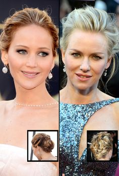 Best Updo: Jennifer Lawrence and Naomi Watts, The Oscar Looks We Think Deserve Their Own Awards