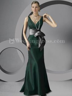 Spring Taffeta V-Neck Bridal Party Gown BR297 91d4e4370670