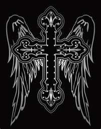 The best tattoo cross angel wings