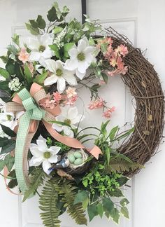A personal favorite from my Etsy shop https://www.etsy.com/listing/599956719/spring-wreath-grapevine-wreath-magnolia
