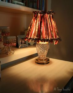 Easy Peasy Lampshade--All things Beautiful