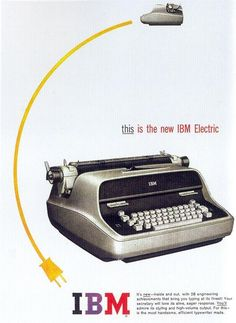 1960 IBM Electric Typewriter