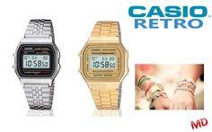 Nu bij www.margedeals.nl de Casio Retro 80's Collection van 79,95 voor 49,95 per stuk incl. verzendkosten. Verkrijgbaar in zilver en goud. Het jaren 80 horloge en hype uit Spanje. Deze Casio Vintage Watch kan niet ontbreken in je collectie!! Grote merken kleine prijzen....MargeDeals