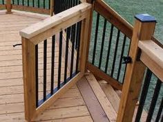 Deck stair gate. This would make a great baby gate for the porch.