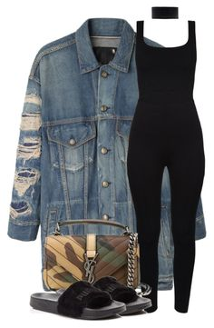 """Untitled #169"" by bfashion91 ❤ liked on Polyvore featuring R13, Lamoda, Yves Saint Laurent, Puma, TrickyTrend and overalls"