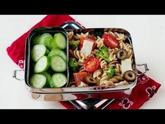 ▶ Easy School Lunch Idea: Pizza Pasta Salad - Learn how easy it is to make from leftovers and fresh ingredients!