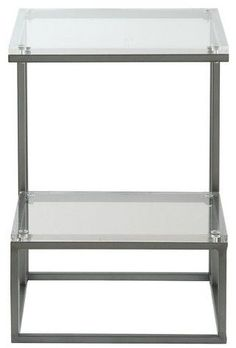 Christopher Knight Home Samantha Square 2 - Tiered Acrylic Accent Table - Clear - Treasure Trove