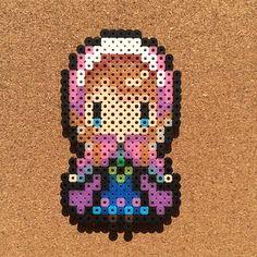 Princess Anna - Frozen perler beads by tsubasa.yamashita
