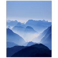 Mountain in Mist 8x10 Photo Glass / .5 Flat Beveled Edge